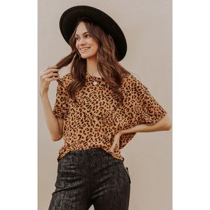 Free People Clarity Tee In Cheetah Combo Size M